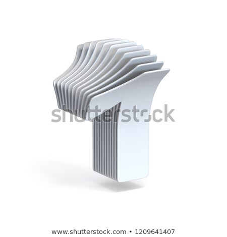 Curved paper sheets Number 1 ONE 3D Stock photo © djmilic