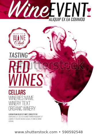 Red and White Wine Vertical Promotional Posters Stock photo © robuart