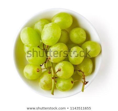 fresh grape in bowl stock photo © yuliyagontar
