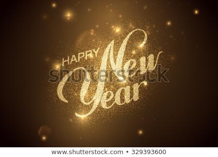Buon anno cartolina bokeh gradiente felice Foto d'archivio © adamson