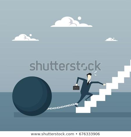 Business Man Debt Illustration Stock photo © lenm