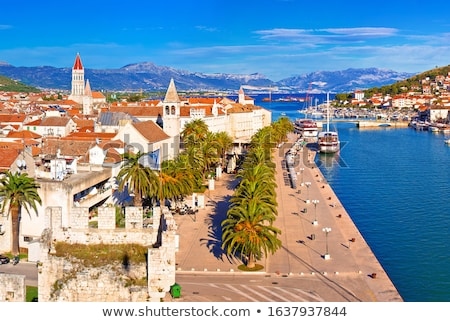 town of trogir waterfront and landmarks panoramic view stock photo © xbrchx