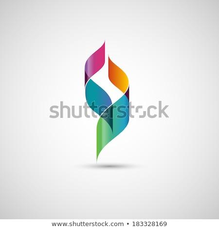 Kék piros absztrakt üzlet technológia logo Stock fotó © blaskorizov