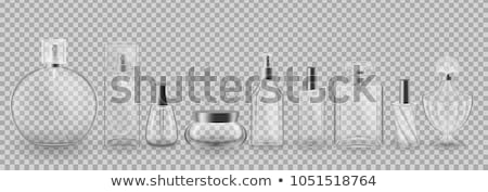 perfume · conjunto · garrafas · branco · selecionado · foco - foto stock © grafvision