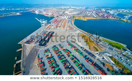 Shipping Container Cranes in the Port of Oakland Stock photo © yhelfman