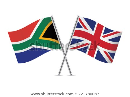 Two waving flags of UK and south africa Stock photo © MikhailMishchenko