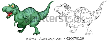 Doodles drafting animal for cute dinosaur Stock photo © colematt