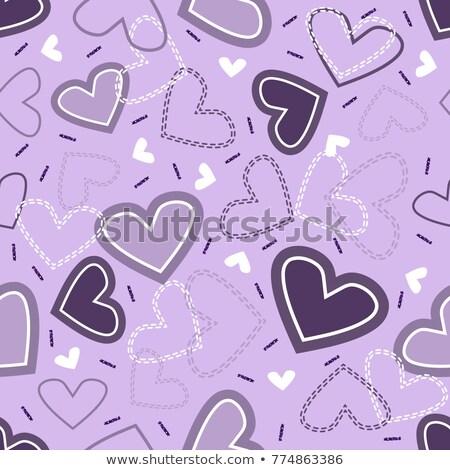 Arany csillogó szívek dekoratív Valentin nap ragyogó Stock fotó © Artspace