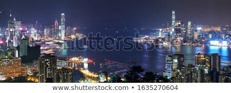 Kowloon View point sunset Stock photo © vichie81