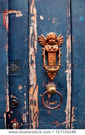 Ancient Door Handle with Angel  Stock photo © dariazu