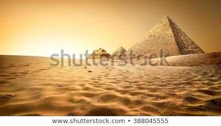 エジプト人 · ピラミッド · ギザ · 砂漠 · 日没 · 空 - ストックフォト © givaga