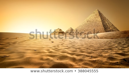 Pyramids in sand desert Stock photo © Givaga