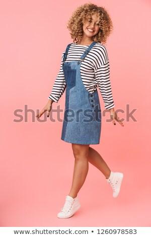 Obraz zabawny kobieta 20s Zdjęcia stock © deandrobot