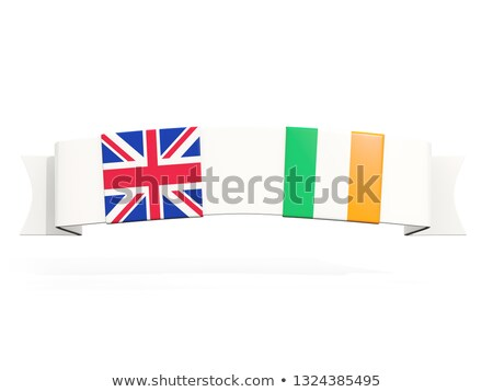 Banner with two square flags of United Kingdom and ireland Stock photo © MikhailMishchenko
