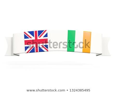 Szalag kettő tér zászlók Egyesült Királyság Írország Stock fotó © MikhailMishchenko