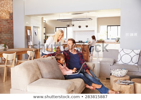 Happy Family Spend Time Together. Mother, Father Stock photo © robuart