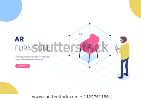 Isometric Virtual Augmented Reality Shopping Stock photo © -TAlex-