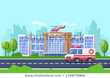 orvos · levegő · mentő · hipszter · mentős · áll - stock fotó © marysan