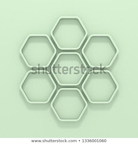 Zöld hatszög 3D 3d render illusztráció terv Stock fotó © djmilic