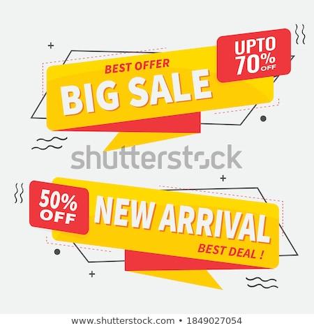 Elegante venta origami chatear burbuja banner negocios Foto stock © SArts