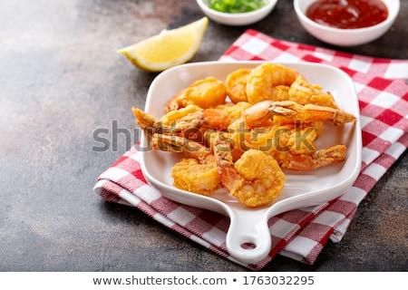 Delicioso pipoca profundo frito alho molho Foto stock © BarbaraNeveu