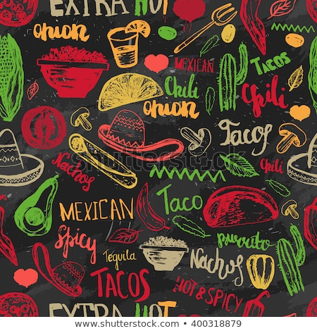 mexican party icon seamless pattern background stock photo © cienpies