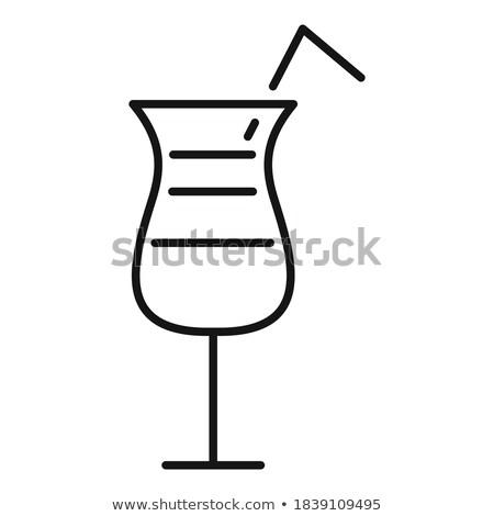 русский водка оливками изолированный белый классический Сток-фото © dla4