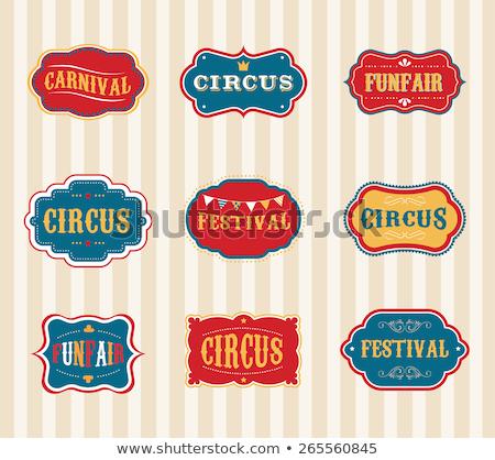 circo · cavalo · imagem · arte · cortina · animal - foto stock © bluering