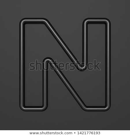 black outline font letter n 3d stock photo © djmilic