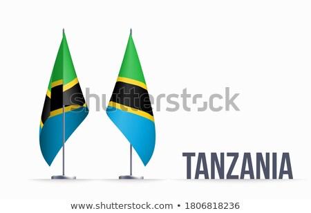 Köztársaság Tanzánia zászló száraz Föld föld Stock fotó © grafvision