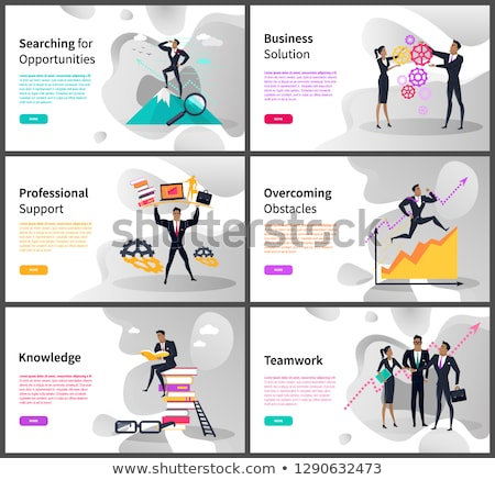 Professional Suppport, Overcoming Obstacles Pages Stock photo © robuart