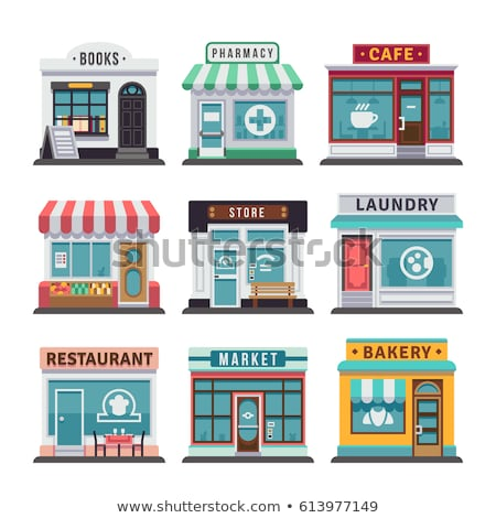 Bookstore facade isolated Vector. Architecture design illustrati stock photo © frimufilms