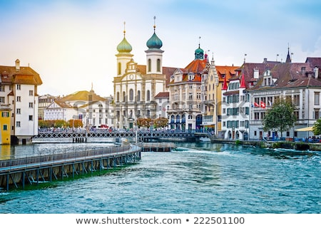 embankment of Reuss river in Lucerne Stock photo © borisb17