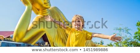 туристических Будду статуя путешествия мальчика Сток-фото © galitskaya