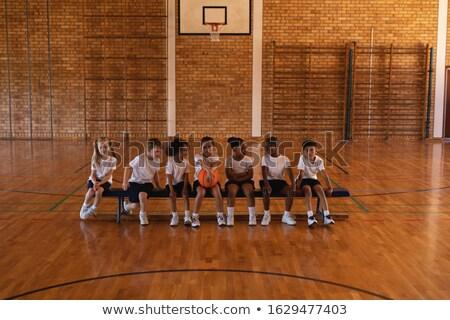 мнение школьников баскетбол сидят скамейке Сток-фото © wavebreak_media