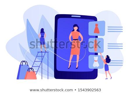 Virtual fitting room concept vector illustration. Stock photo © RAStudio