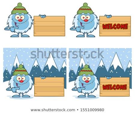 Cute mascotte dessinée personnage vecteur ensemble Photo stock © hittoon