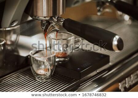 профессиональных эспрессо машина кофейня пить Кубок Сток-фото © grafvision