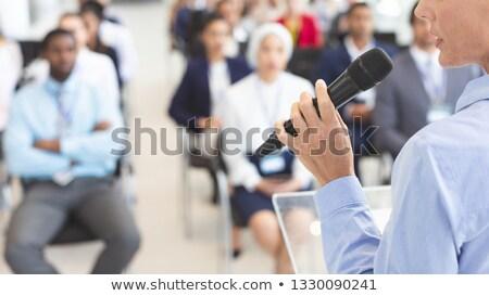 男性 混血 スピーカー ビジネス セミナー ストックフォト © wavebreak_media