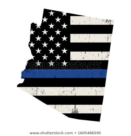 Arizona policji wsparcia banderą ilustracja Zdjęcia stock © enterlinedesign