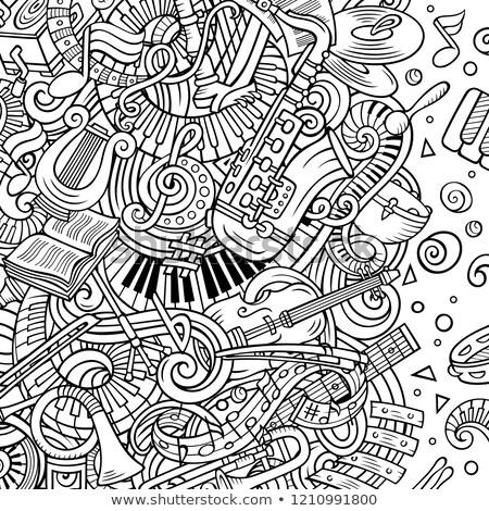 Cartoon bazgroły klasyczny muzyki sztuki musical Zdjęcia stock © balabolka