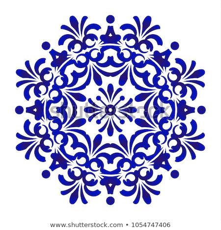 Mandala desen mavi örnek yoga renk Stok fotoğraf © bluering