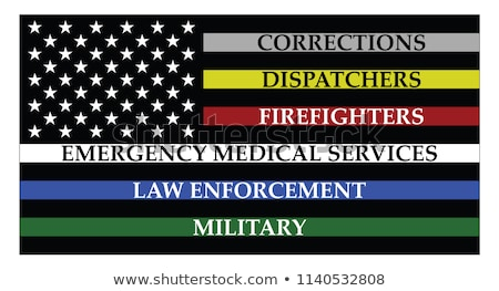 Rendőrség tűzoltó absztrakt amerikai zászló illusztráció vektor Stock fotó © enterlinedesign