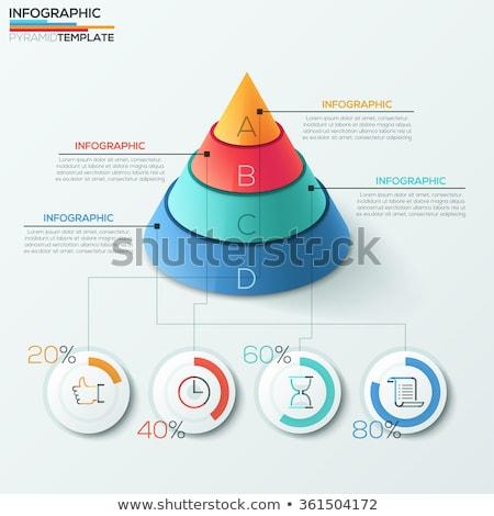 Geometric Element, Pyramid Symbol, Parts Vector Stock photo © robuart