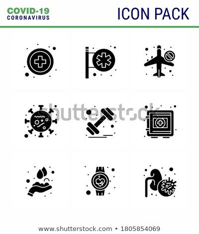 Hospital Signboard related vector glyph icon. Stock photo © smoki