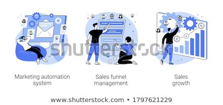 ügyfél tölcsér vektor metafora eladó stratégia Stock fotó © RAStudio
