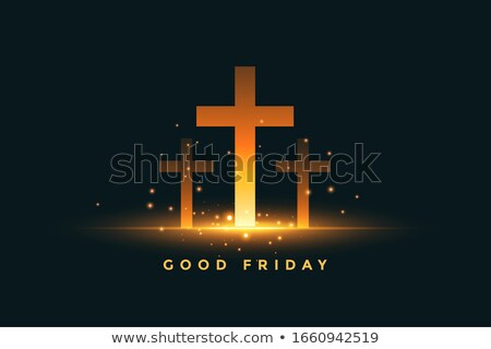 glowing three cross good friday concept background Stock photo © SArts