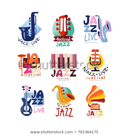 Jazz music labels Stock photo © ShustrikS