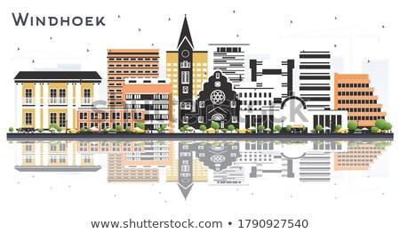 Linha do horizonte cor edifícios blue sky reflexões Foto stock © ShustrikS