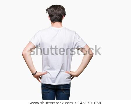 Giovani bell'uomo indossare bianco tshirt isolato Foto d'archivio © benzoix